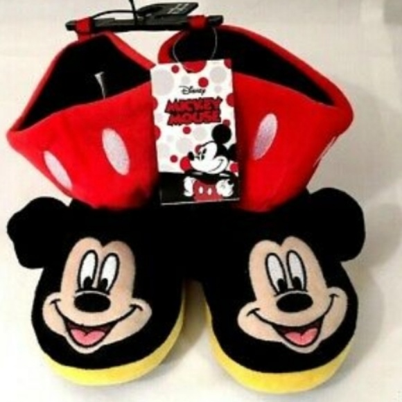 2f5e1565bfa3 Disney Shoes   S Mickey Mouse Boys Boot Plush Slippers   Poshmark